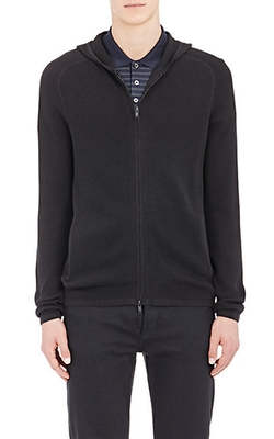 Melker Breach Zip-Front Hoodie by Theory in The Mindy Project
