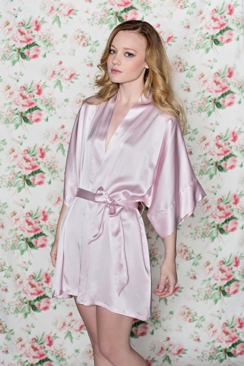 Samantha Bridal Silk Robe Kimono by Girl With A Serious Dream in Scream Queens
