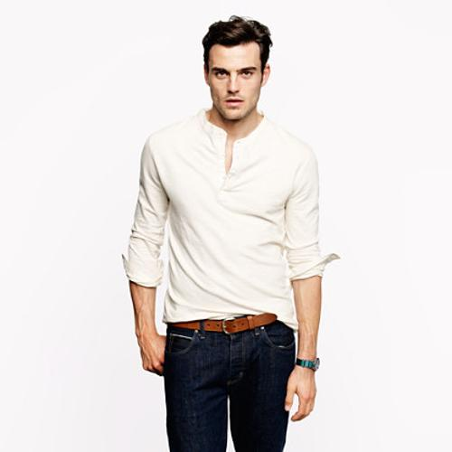Oldtimer Henley Shirt by Homespun Knitwear in The Hundred-Foot Journey