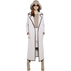 Double Wool Coat With Contrast Trim by Max Mara in The Good Wife