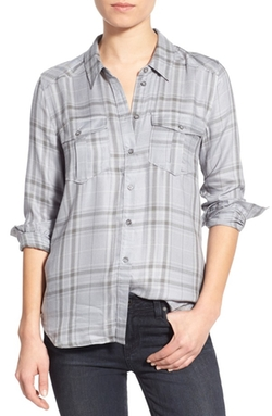 'Mya' Plaid Shirt by Paige Denim in Supergirl