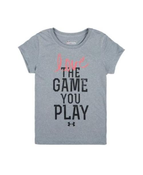 Little Girls' Love The Game T-Shirt by Under Armour in Little Fockers