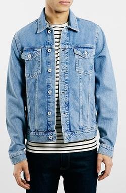 Light Wash Denim Jacket by Topman in Wet Hot American Summer