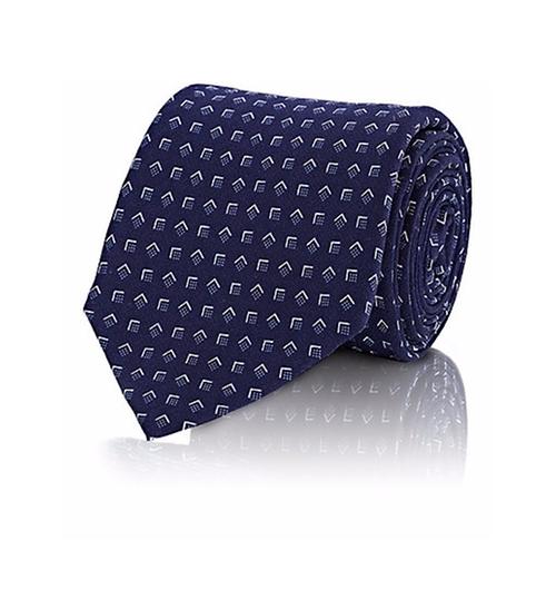 Geometric Pattern Necktie by Ralph Lauren Black Label  in Billions - Season 1 Episode 7