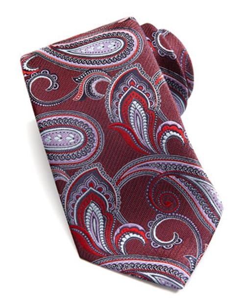 Large-Paisley Silk Tie by Ermenegildo Zegna in The Wolf of Wall Street