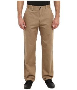 Game Day Khaki D3 Classic Fit Flat Front Pant by Dockers in No Escape