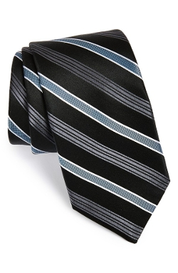 'Mt. Supery Stripe' Woven Silk Tie by Michael Kors in Trainwreck