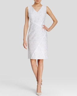 Kiersten Abstract Print Sheath Dress by Lafayette 148 New York in The Flash