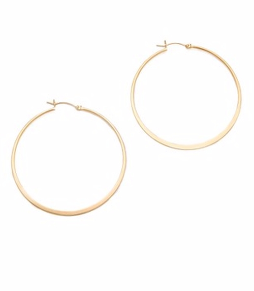 Small Hoop Earrings by Jennifer Zeuner Jewelry in Chelsea - Season 1 Episode 1