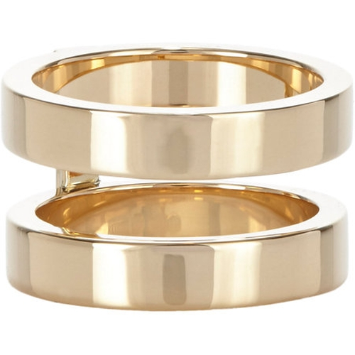 Gold Phalanx Berbère Double-Band Midi Cage Ring by Repossi in That Awkward Moment