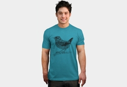 Zentangle Wren Small Bird T-Shirt by Design by Humans in The Big Bang Theory