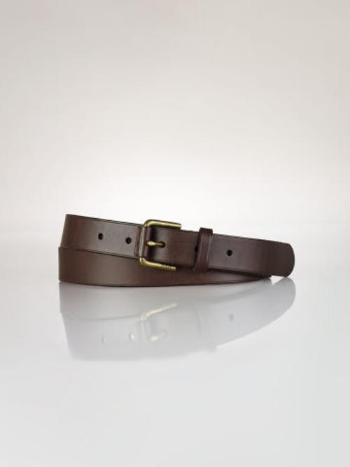 Covered-Buckle Leather Belt by Polo Ralph Lauren in Anchorman 2: The Legend Continues