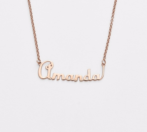 Personalized Script Name with Heart Necklace by Argento Vivo in Pretty Little Liars - Season 7 Episode 7