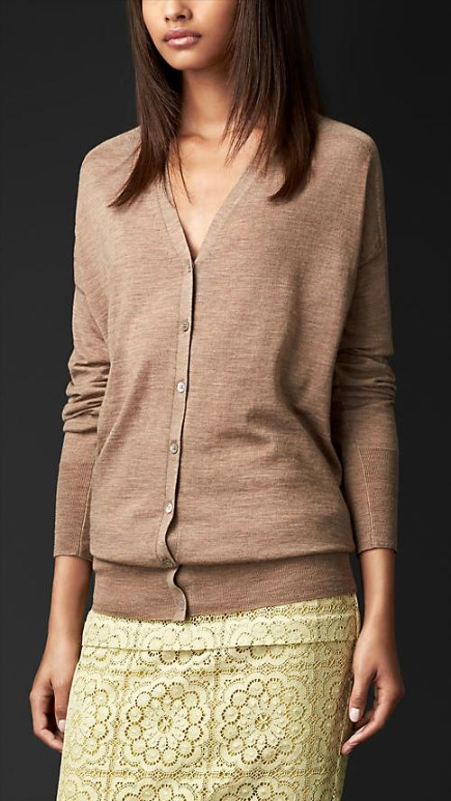 Oversize Merino Wool Cardigan by Burberry in And So It Goes