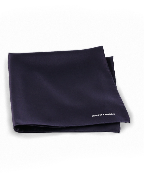 Solid Silk Twill Pocket Square by Ralph Lauren in GoldenEye