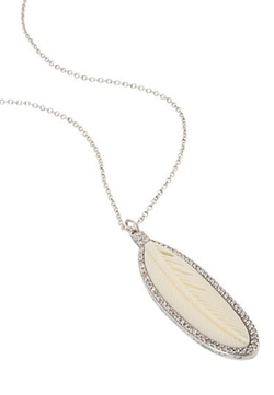 Faux Feather and Rhimestone Necklace by Maurices in Sisters