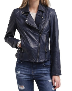 Motorcycle Lambskin Leather Jacket by Standard Leather in Quantico