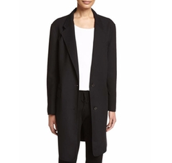 Long Tailored Wool-Blend Coat by DKNY in Quantico