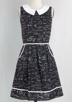 All Eyes On Unique Dress In Science by Mod Cloth in New Girl
