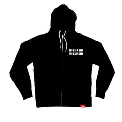 Dashed Zip-Up Hoodie by Villans LA in Keeping Up With The Kardashians