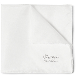 Silk Pocket Square by Charvet in Spy
