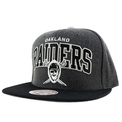 NFL Oakland Raiders Snapback Cap by Mitchell & Ness in Straight Outta Compton