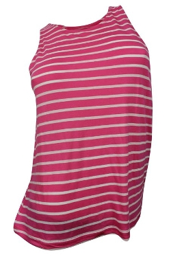 Women's Pink White Tank Top by French Connection in McFarland, USA