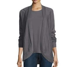 Fine Tencel Alpaca Oval Cardigan by Eileen Fisher in Supergirl