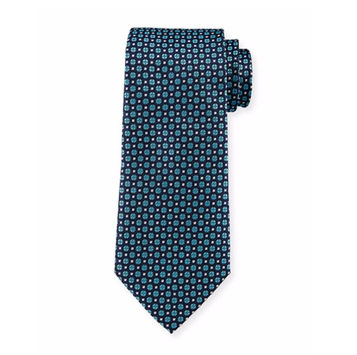Textured Neat Circle-Print Tie by Armani Collezioni in Billions - Season 1 Episode 10