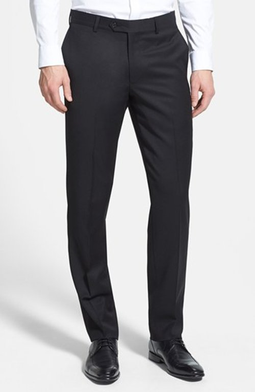Flat Front Wool Gabardine Trousers by Nordstrom in If I Stay