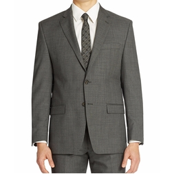 Sharkskin Two Button Blazer by Lauren Ralph Lauren in Elementary