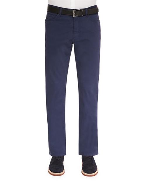 Five-Pocket Stretch-Cotton Pants by Ermenegildo Zegna in Inherent Vice