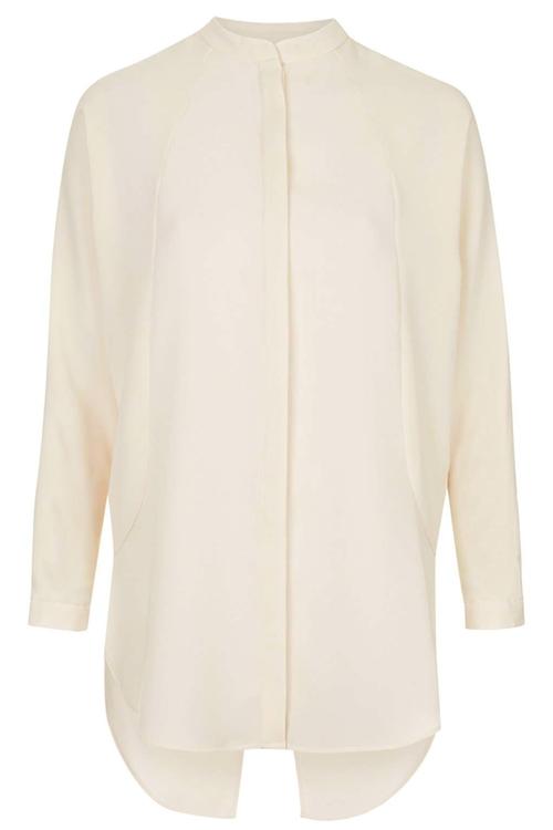 Textured Collarless Shirt by Topshop in Krampus