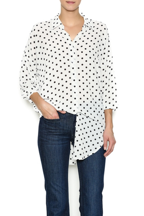 Stacey Polka Blouse by La Di Da Dee in Supergirl - Season 1 Episode 7