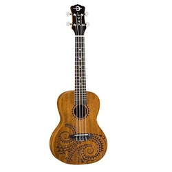 Mahogany Series Tattoo Concert Ukulele by Luna in Love the Coopers