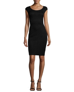 Allure Knit Scoop-Neck Cap-Sleeve Sheath Dress by St. John Collection in Keeping Up With The Kardashians