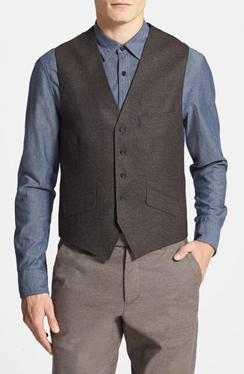 Jaguar Wool Vest by Ted Baker London in Sherlock Holmes: A Game of Shadows