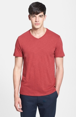 Slub Jersey Cotton V-Neck T-Shirt by Vince in Unfriended