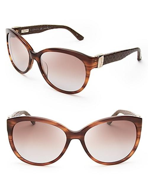Vara Snake Oversized Sunglasses by Salvatore Ferragamo in The Other Woman