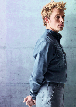 Custom Made Men's Military Jacket (Finnick Odair) by Kurt and Bart (Costume Designer) in The Hunger Games: Mockingjay Part 1
