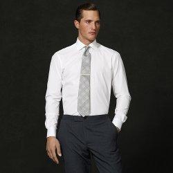 Aston Solid Poplin Dress Shirt by Ralph Lauren in The Man from U.N.C.L.E.