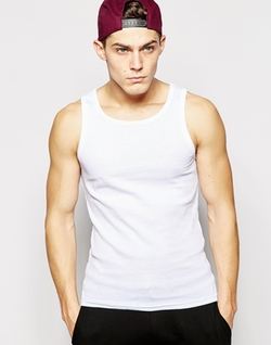 Solid Ribbed Tank Top by ASOS in Straight Outta Compton