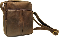Distressed Leather Bag by Ledonne in Supergirl