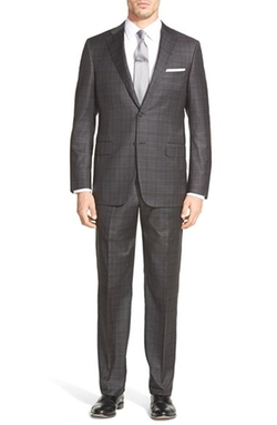 'Beacon' Classic Fit Plaid Wool Suit by Hickey Freeman in Our Brand Is Crisis