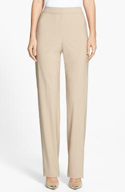 Diana Straight Leg Tropical Wool Pants by St. John Collection in Little Fockers