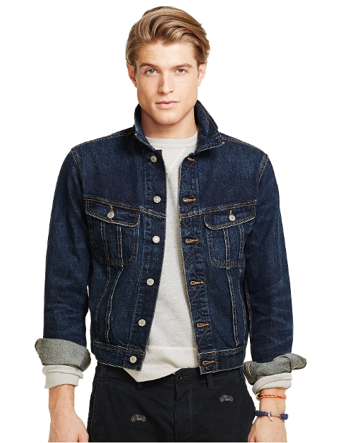 Denim Trucker Jacket by Ralph Lauren in Cut Bank