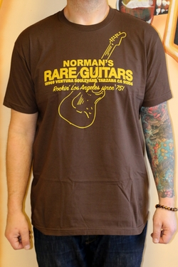 Printed T-Shirt by Norman's Rare Guitars in Forgetting Sarah Marshall