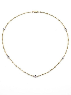 White & Yellow Gold Station Diamond Necklace by Roberto Coin in Furious 7