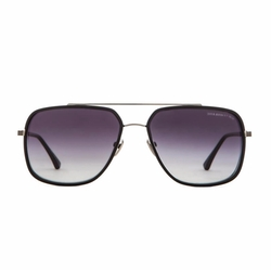 Avocet-Two in Matte Black and Antique Silver Sunglasses by Dita in Ballers