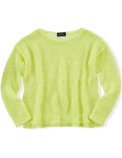 Little Girls' Linen Sweater by Ralph Lauren in Black-ish